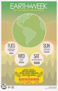earth week poster 2013
