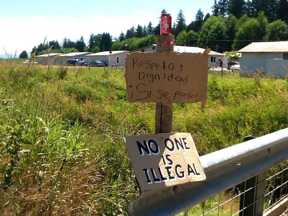 SIGN - NO ONE IS ILLEGAL