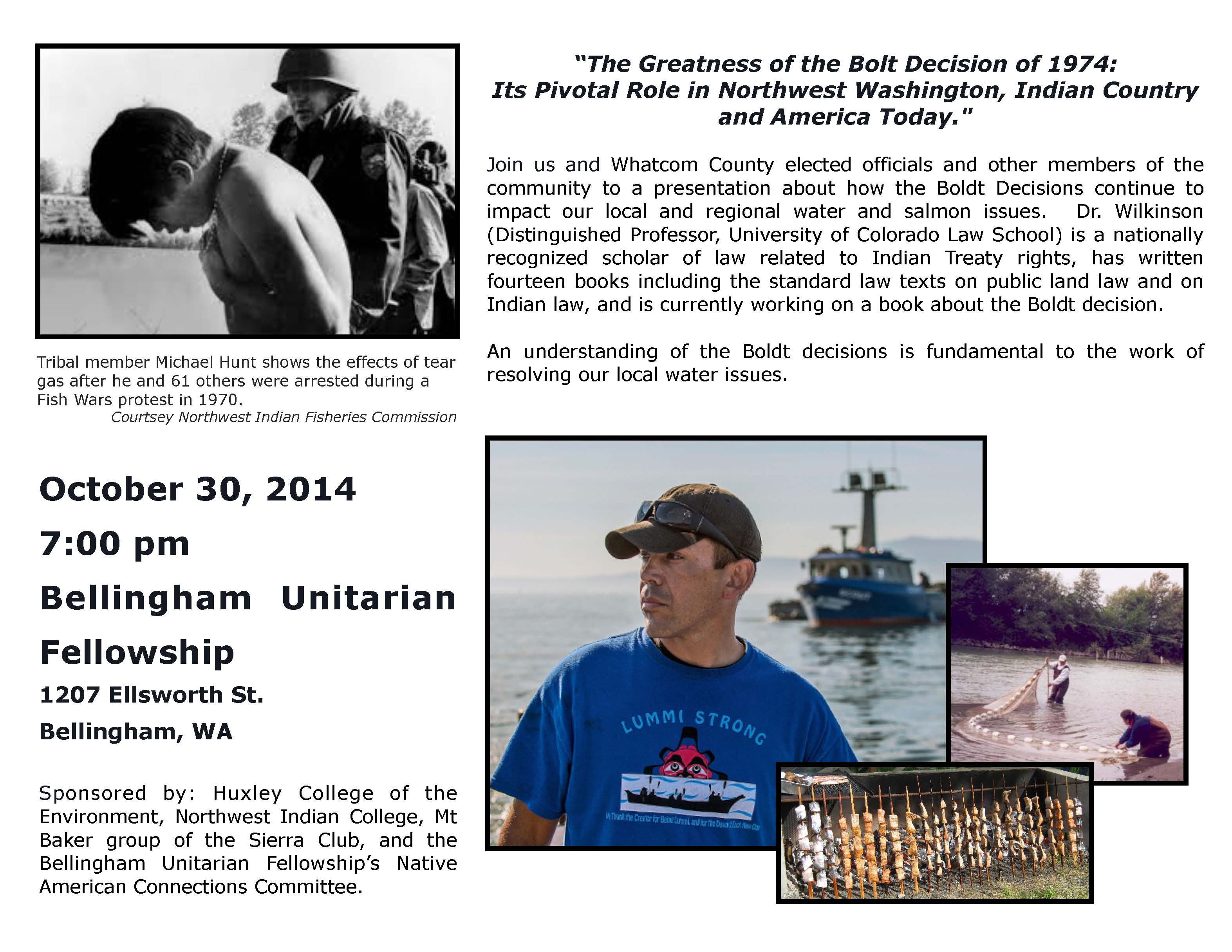The Greatness of the BOLT Decision of 1974 @ Bellingham Unitarian Fellowship | Bellingham | Washington | United States
