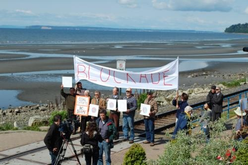 The White Rock Thirteen blockade the same BNSF rails, north of the border in British Columbia, that were blockaded by the Bellingham Twelve south of the border in Washington State